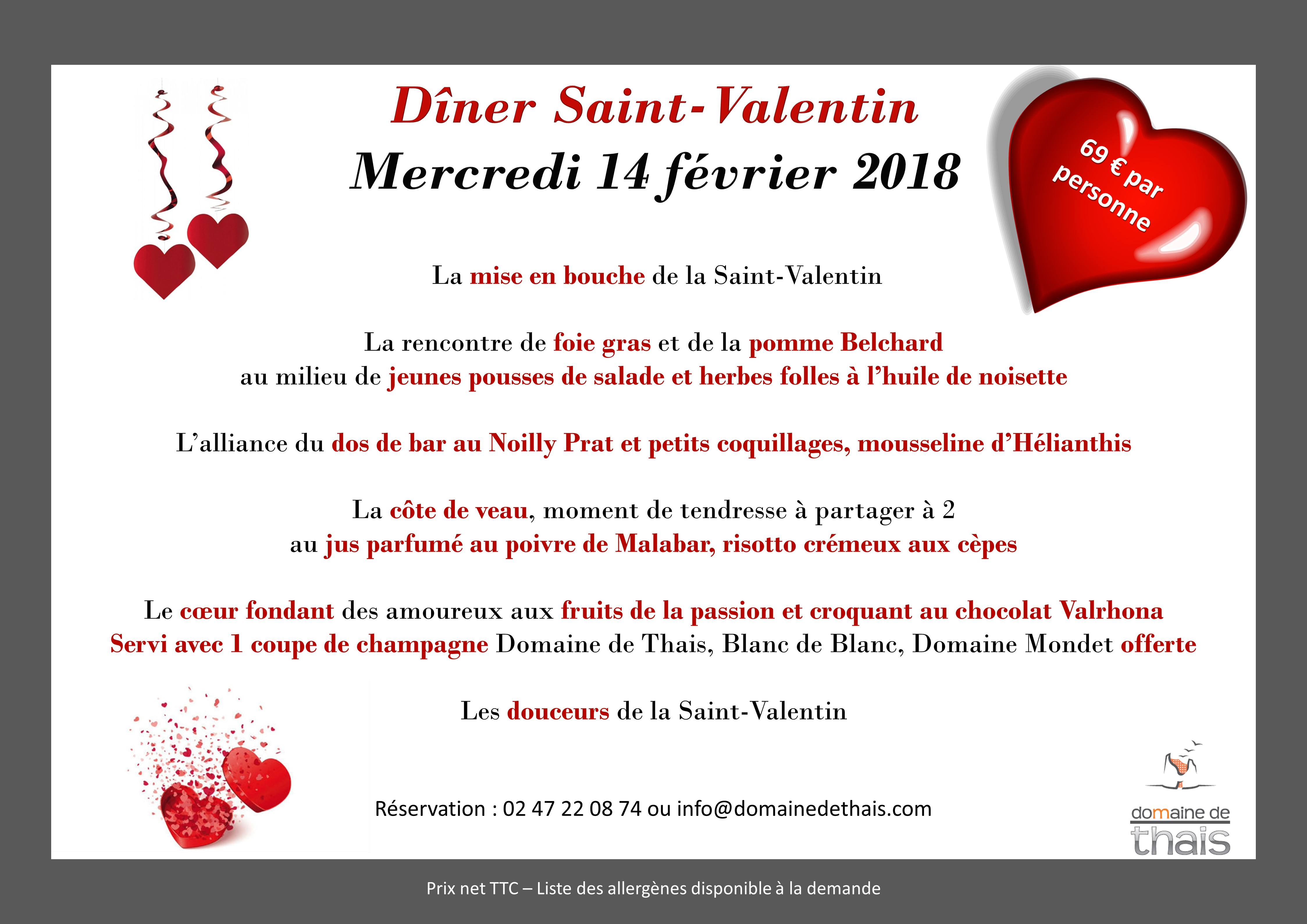 Saint valentin proximit de tours domaine de thais - Cuisine saint valentin ...